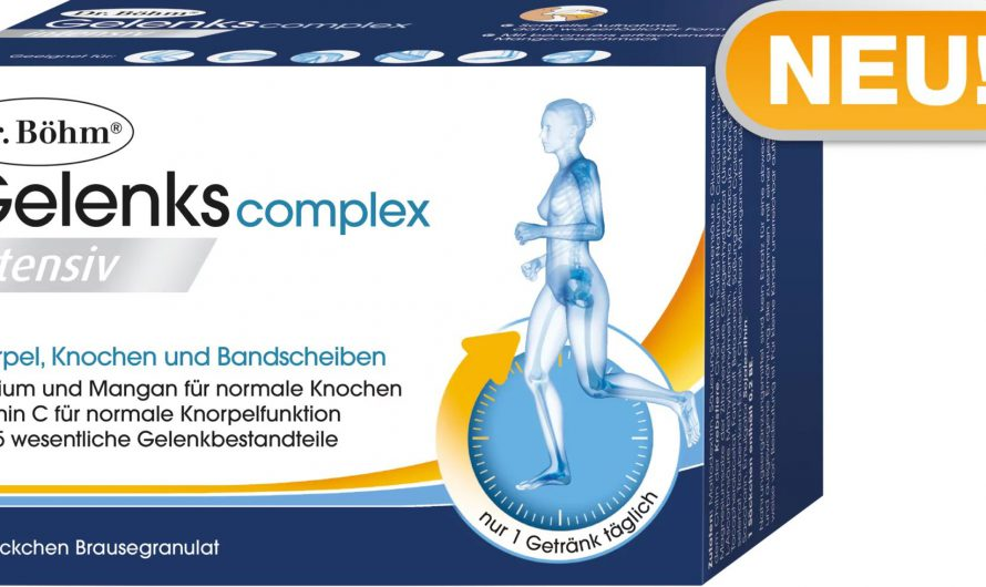 Neues von Dr. Böhm: Gelenkscomplex zum Trinken